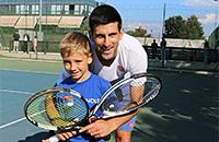 Джокович спонсирует 8-летнего теннисиста