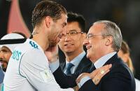 Флорентино Перес, Серхио Рамос, Реал Мадрид, Ла Лига, Лига чемпионов УЕФА