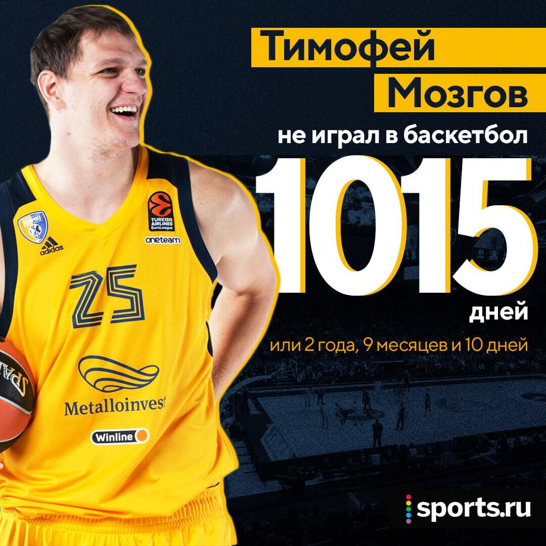Тимофей Мозгов сыграл впервые за 1000 дней. А где он пропадал почти три года?