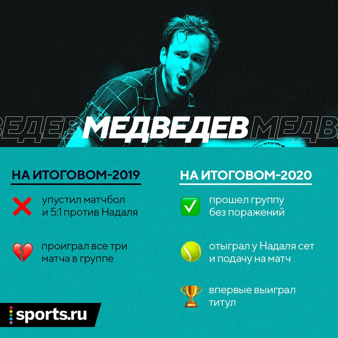 У Медведева ничего не выходит с первого раза. В прошлом году он провалил итоговый, а сегодня выиграл его