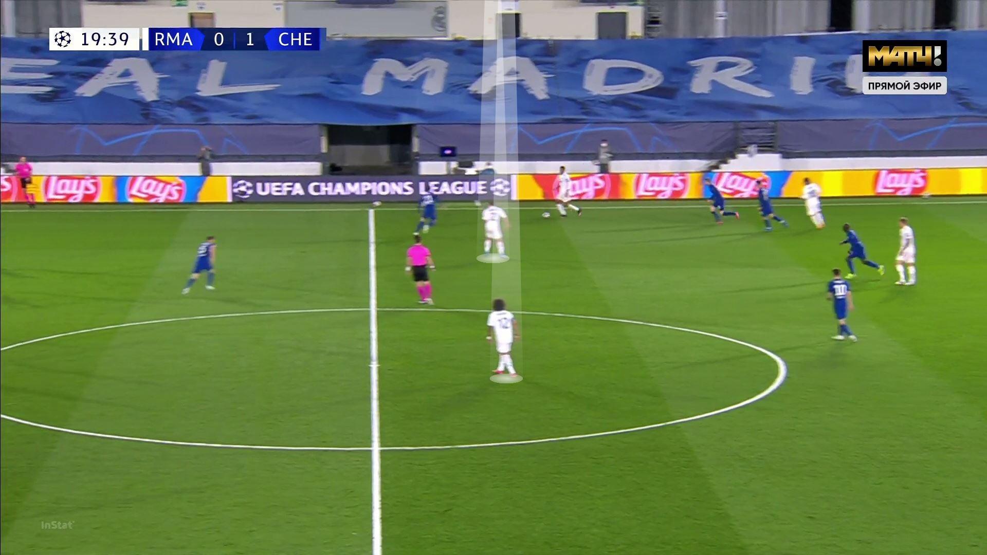 Увидев состав «Реала», Тухель преобразовал свой план. Это дало «Челси» преимущества в центре и в прессинге