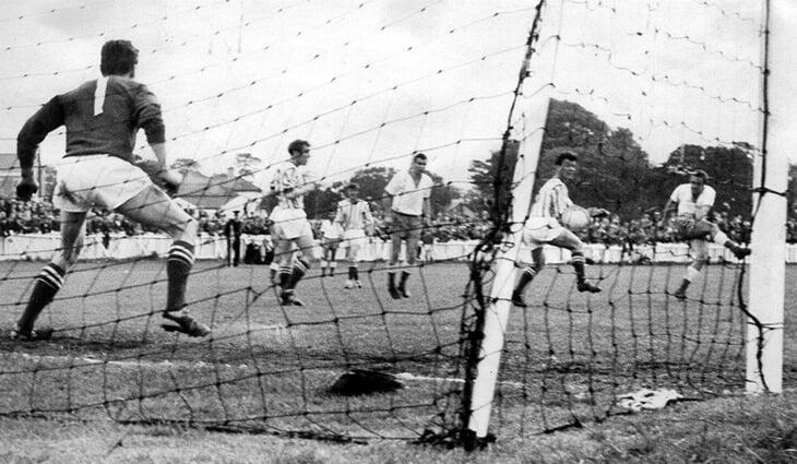 56 лет назад советский клуб впервые сыграл в еврокубках. Киевское «Динамо» разнесло «Колрейн» из Северной Ирландии 6:1