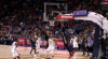 Anthony Davis flies in for the alley-oop slam