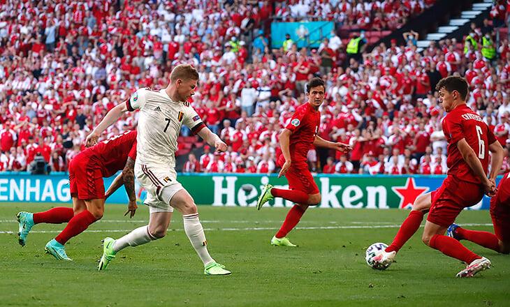 Де Брюйне мощно вернулся: вышел в перерыве, сделал 1+1 и прибил Данию