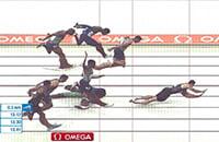 Авария Шубенкова на финише: упал после подсечки, ободрал плечо и все равно выиграл
