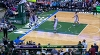Giannis Antetokounmpo with the rejection vs. the Hornets
