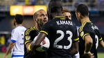 Kei Kamara, Federico Higuain Fight Over Penalty Kick