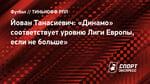 Йован Танасиевич: «Динамо» соответствует уровню Лиги Европы, если небольше»