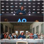 "Troll Tennis on Instagram: ""The Last Supper, The First Semi  #Tsitsipas #AusOpen #australianopen2019 #ausopen19 #AusOpen2019 #australianopen"""