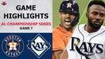Houston Astros vs. Tampa Bay Rays Game 7 Highlights   ALCS (2020)
