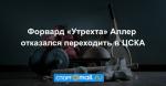 Форвард «Утрехта» Аллер отказался переходить в ЦСКА
