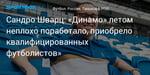 Футбол. Сандро Шварц: «Динамо» летом неплохо поработало, приобрело квалифицированных футболистов»