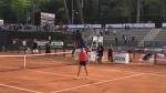 Gael Monfils Incredible Slam Dunk Smash, over Daria Gavrilova Internazionali BNL Rome 2016