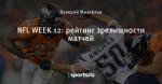 NFL WEEK 12: рейтинг зрелищности матчей