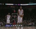 Amazing! Tracy Mcgrady left hand free throw