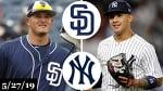 San Diego Padres vs New York Yankees - Full Game Highlights | May 27, 2019 | 2019 MLB Season