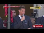 Cristiano Ronaldo asks Morata to talk with the fans During Celebration La Liga 2016-2017 Title