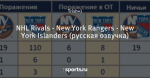 NHL Rivals - New York Rangers - New York Islanders (русская озвучка)
