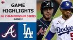 Atlanta Braves vs. Los Angeles Dodgers Game 2 Highlights   NLCS (2020)