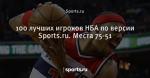 100 лучших игроков НБА по версии Sports.ru. Места 75-51