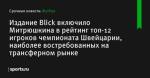 Издание Blick включило Митрюшкина в рейтинг топ-12 игроков чемпионата Швейцарии, наиболее востребованных на трансферном рынке - Футбол - Sports.ru