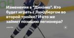 """Изменения в """"Динамо"""". Кто будет играть с Линдбергом во второй тройке? И кто же займет позицию легионера?"""