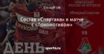 Состав «Спартака» в матче с «Локомотивом»