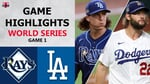 Tampa Bay Rays vs. Los Angeles Dodgers Game 1 Highlights   World Series (2020)
