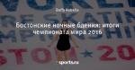 Бостонские ночные бдения: итоги чемпионата мира 2016