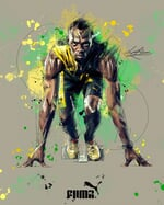 """-L i a m J a m e s C r o s s- on Instagram: """"Here is a concept design I created for @puma of @usainbolt 🇯🇲 I love creating artworks like this! Who would you like to see next?  _  _…"""""""