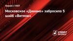 Московское «Динамо» забросило 5 шайб «Витязю»