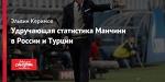 Удручающая статистика Манчини в России и Турции