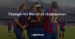 Первый гол Месси за «Барселону»