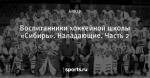 Воспитанники хоккейной школы «Сибирь». Нападающие. Часть 2