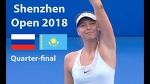 Sharapova vs Diyas Highlights / Shenzhen Open 2018 / Quarter-final