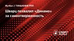 Шварц похвалил «Динамо» засамоотверженность