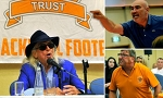 Blackpool owner Oyston heckled by furious fans at supporters' forum
