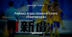 Анализ игры ташкентского «Пахтакора»