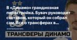 В «Динамо» грандиозная перестройка. Бувач руководит составом, который он собрал сам. Все о трансферах в «Динамо» и не только