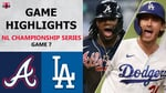 Atlanta Braves vs. Los Angeles Dodgers Game 7 Highlights   NLCS (2020)