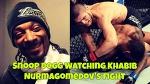 Snoop Dogg watching Khabib Nurmagomedov vs Michael Johnson fight