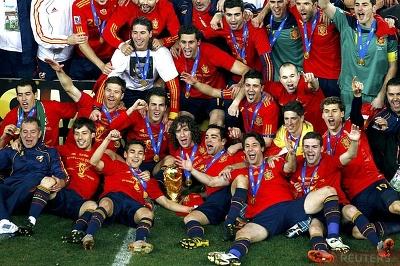 Сборной испании по футболу 2010