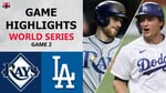 Tampa Bay Rays vs. Los Angeles Dodgers Game 2 Highlights   World Series (2020)