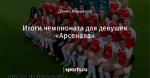 Итоги чемпионата для девушек «Арсенала»