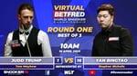 Virtual Betfred World Championship   Day One   Round One   Judd Trump vs Yan Bingtao