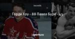 Горди Хоу - 88 Павел Буре - 45