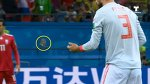 Gerard Piqué helps a little bird to fly during match spain vs iran world cup 2018 #respect