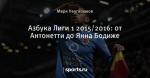 Азбука Лиги 1 2015/2016: от Антонетти до Янна Бодиже