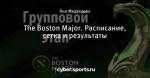 The Boston Major. Расписание, сетка и результаты
