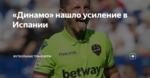 «Динамо» нашло усиление в Испании